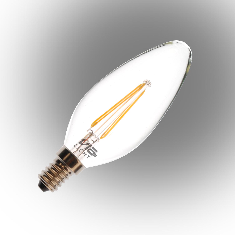 Vialicht 2W(20W) B35-COG Led Filament Mum Ampul E14 210lmn 270° 2700K