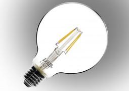 Vialicht 4W(40W) G95-COG Led Filament Glob E27 430lm 270° 2700K